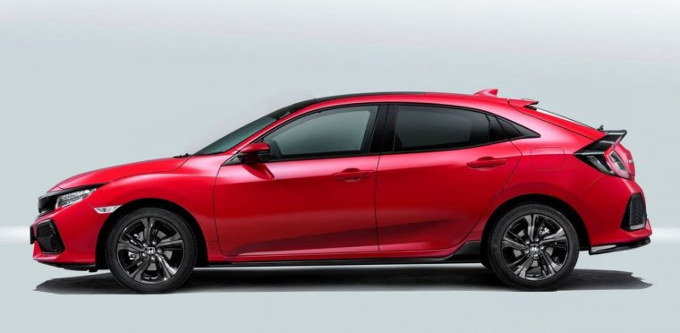 2017 Honda Civic European Hatchback Silhouette