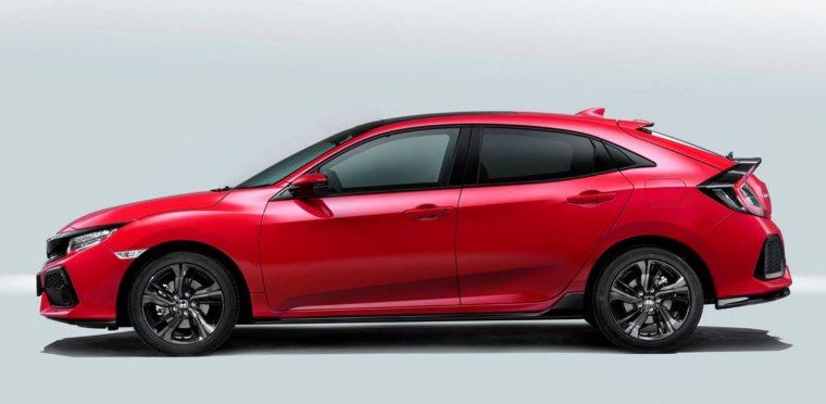 2017 Honda Civic European Hatchback Silhouette
