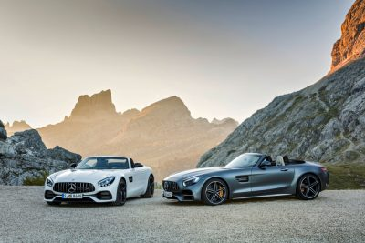 The new Mercedes-AMG GT and Mercedes-AMG GT C roadsters will make their public debuts at the upcoming Paris Motor Show