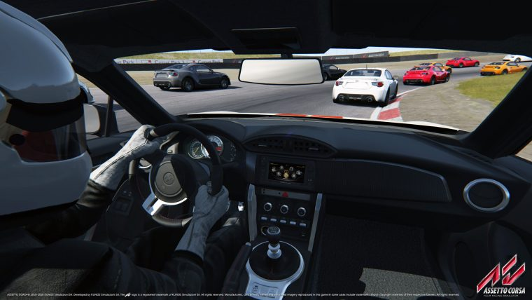Onboard a car in Assetto Corsa