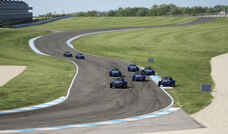 Caterham Super 7s at Donington GP