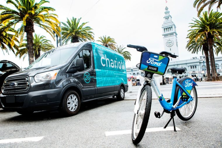 Chariot Ford Transit shuttle and Ford GoBike