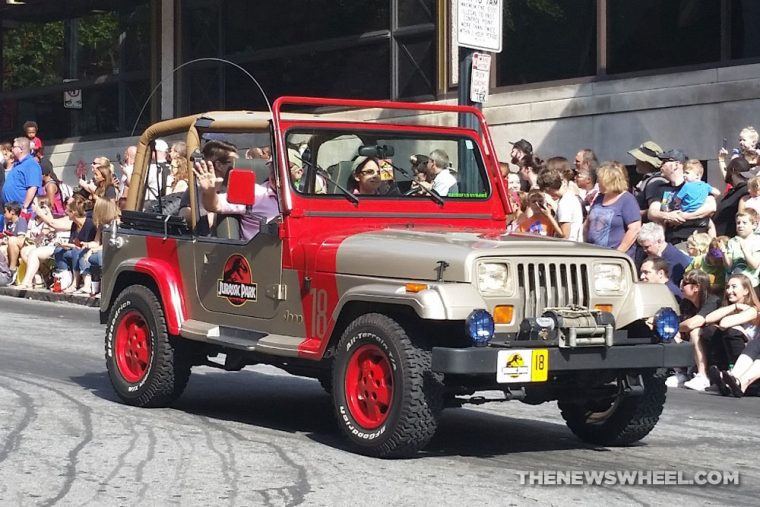Jurassic Park Jeep Wrangler at Dragon Con Atlanta Parade