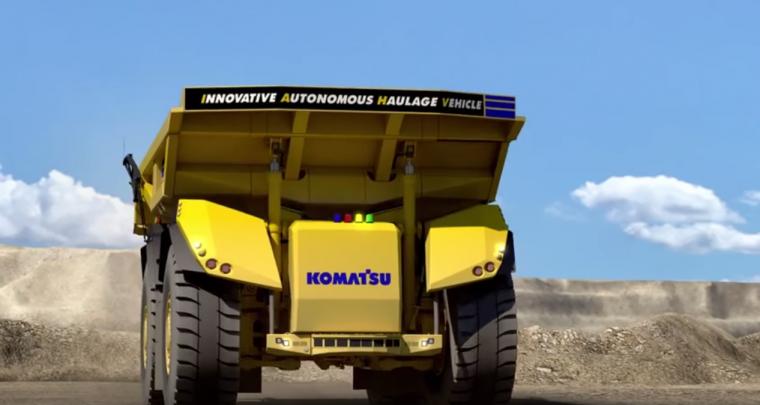 Komatsu Self-driving dump truck