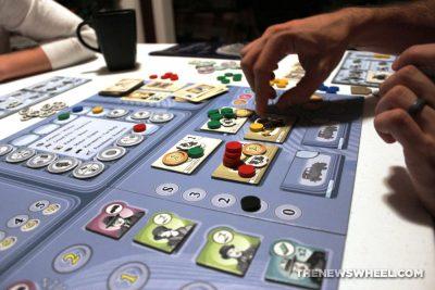 Kraftwagen V6 Edition Stronghold Games 2016 board game review car tokens
