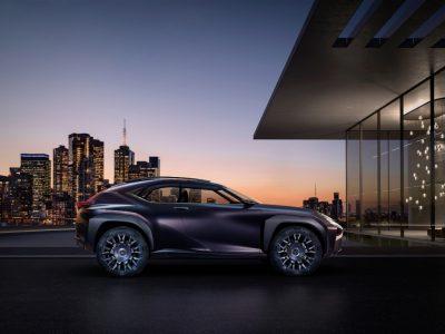 Lexus UX crossover concept 2016 Paris Auto Show exterior side
