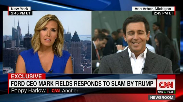 Ford CEO Mark Fields CNN Trump
