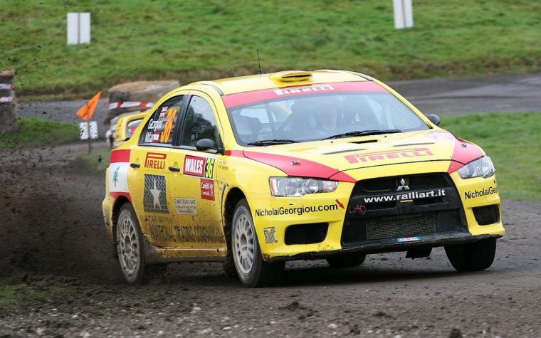 Mitsubishi Lancer Evo X at WRC Wales Rally
