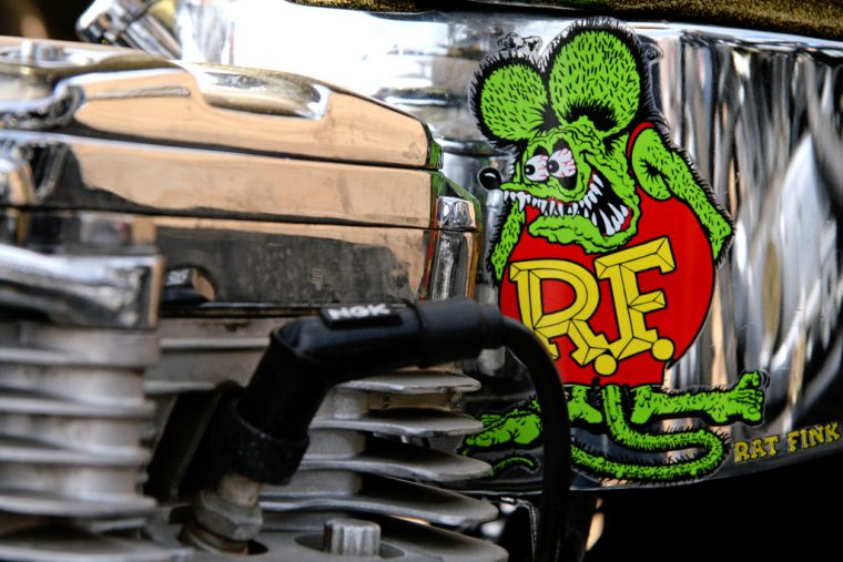 Rat Fink cartoon Big Daddy Roth hot rod design origin