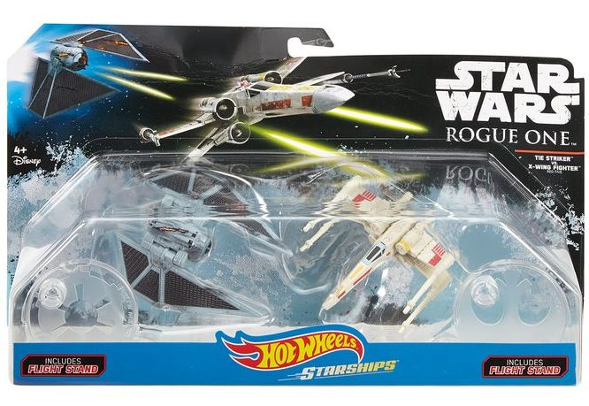 Star Wars Rogue One Hot Wheels Ships TIE Striker X-Wing