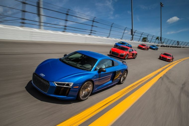 The 2017 Audi R8 V10 Plus group