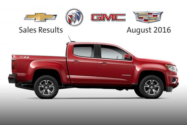 General Motors August 2016 sales