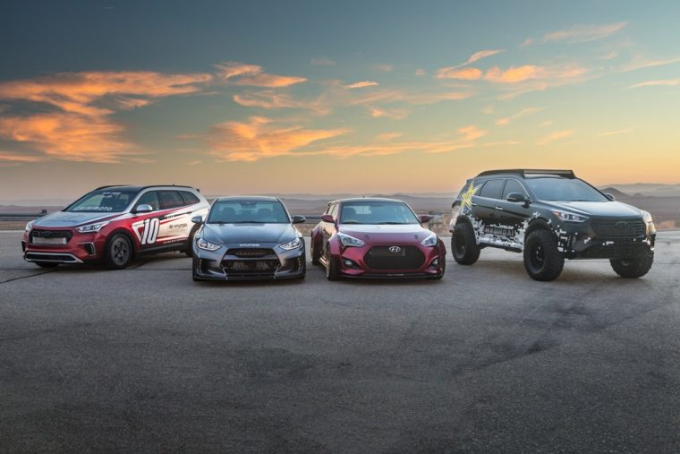 2016 Hyundai SEMA custom tuned cars vehicle lineup
