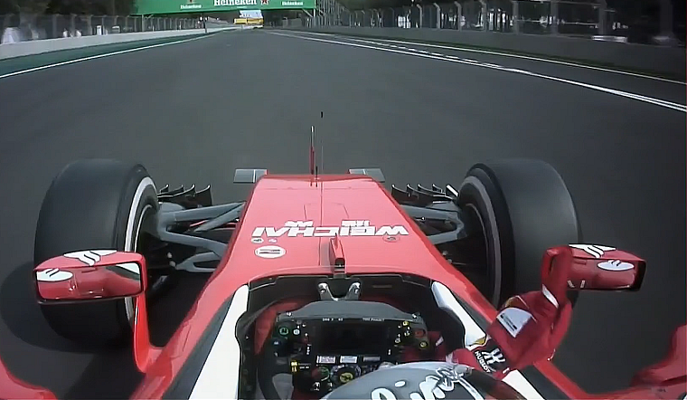 Vettel wags his finger at Verstappen
