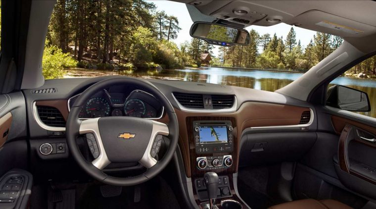 2017 Chevrolet Traverse Dashboard Design