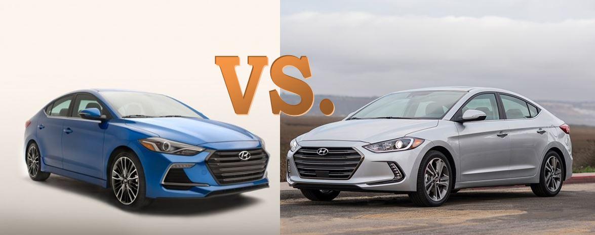 Hyundai Elantra Vs Elantra Sport Differences Comparison on 2016 Hyundai Elantra Sedan