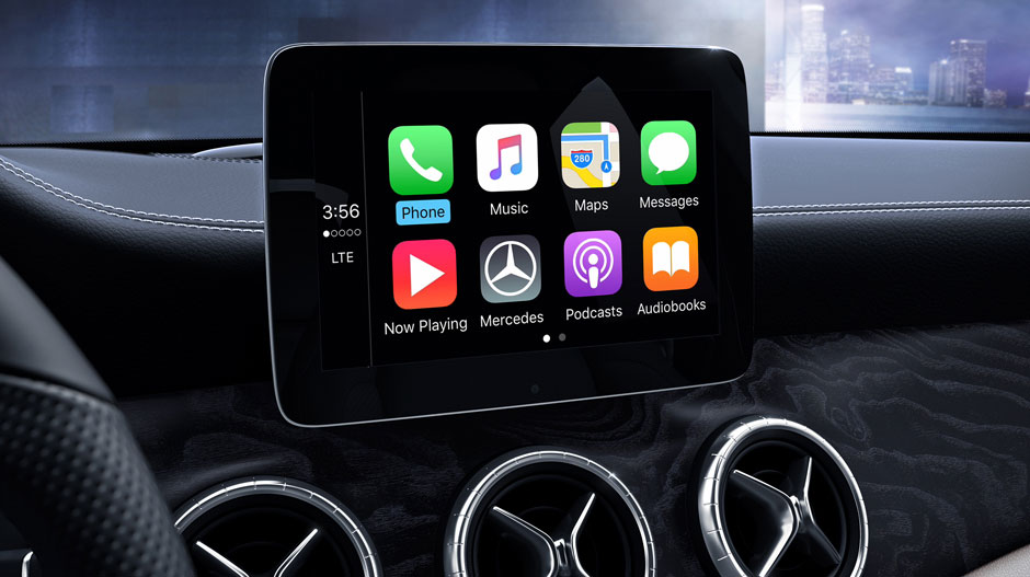 2017 mercedes benz cla apple carplay the news wheel for Mercedes benz apple carplay