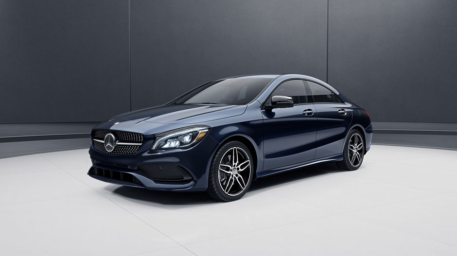 2017 mercedes benz cla coupe with dark blue exterior the for Navy blue mercedes benz
