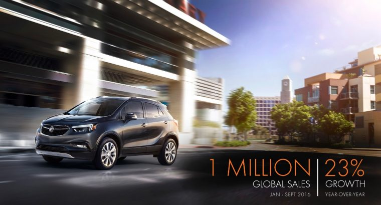 Buick celebrates 1 million global sales for year of 2016 in September
