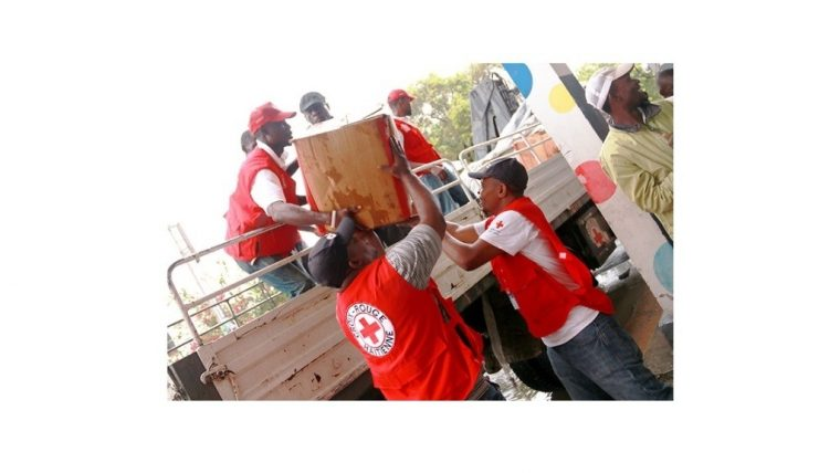 American Red Cross workers in Haiti