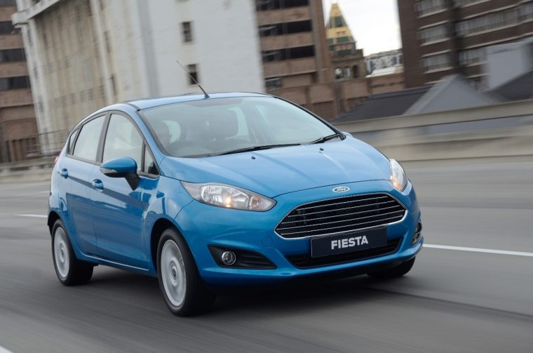 Ford Fiesta in right-hand drive