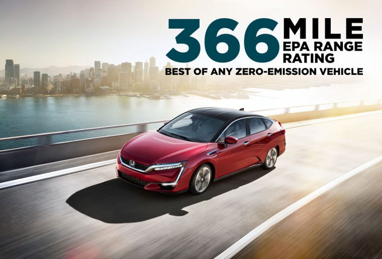Honda Clarity Fuel Cell Boasts EPA 366-Mile Range Rating