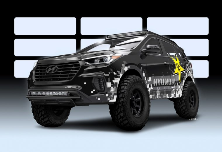Hyundai Santa Fe SUV Rockstar Performance Garage off-road SEMA Show