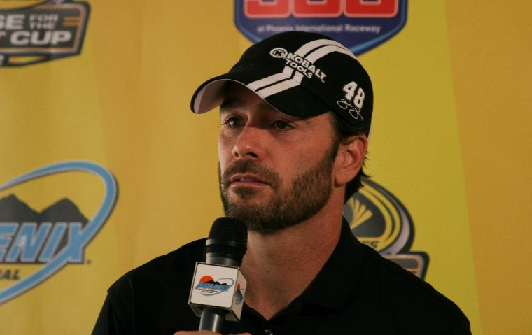 NASCAR driver Jimmie Johnson broke a career long winless streak this past Sunday at Charlotte Motor Speedway