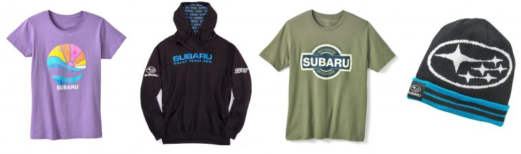 Subarui gear merchandise shop buy gifts swag clothes accessories