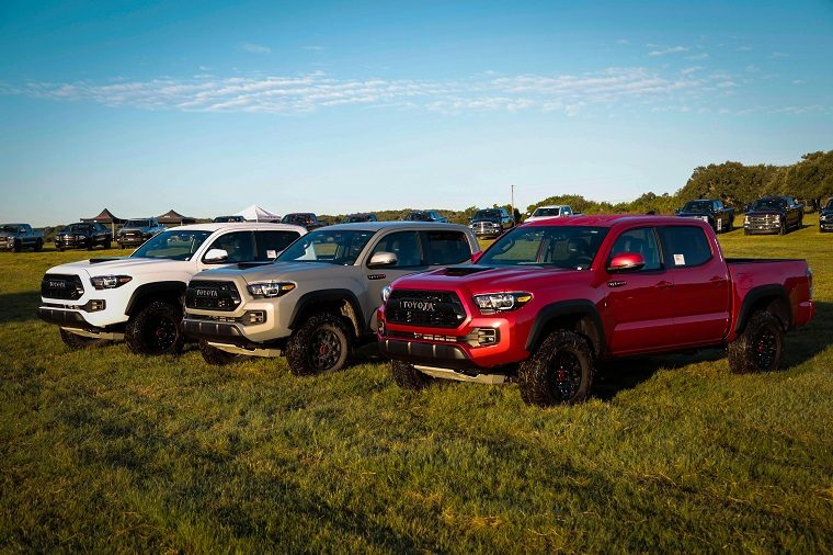 Three Tacoma TRD Pros