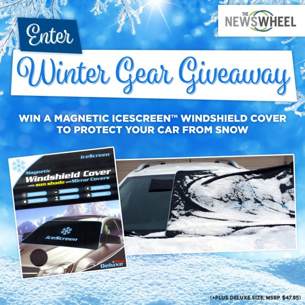 The News Wheel winter icescreen magnetic windshield cover giveaway post