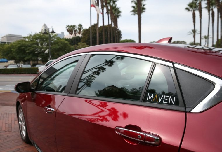 Maven car sharing service launches in Los Angeles