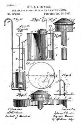 original gasoline pump fueling patent machine
