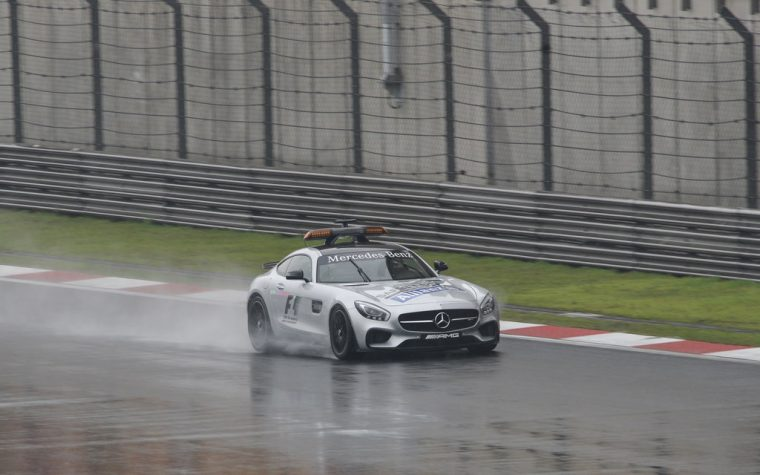 F1 Safety Car in the Wet