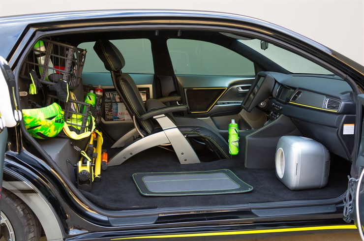 Interior of the Niro Triathlon