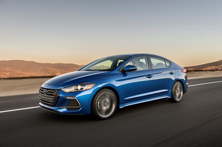 2017 Hyundia Elantra Sport pricing announcement blue exterior