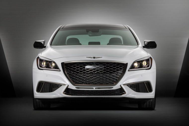 2018 Genesis G80 Sport 3.3T V6 Reveal at LA Auto Show front grille