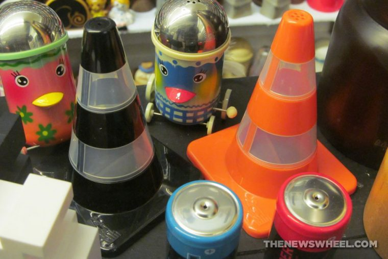 Car Themed Salt and Pepper shakers Automotive novelty traffic cone