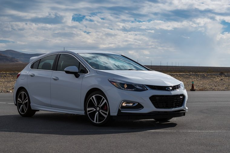 A 2017 Chevy Cruze hatch featuring performance parts