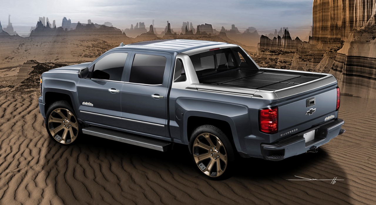 introducing the chevy silverado 1500 high desert sema show car the news wheel. Black Bedroom Furniture Sets. Home Design Ideas