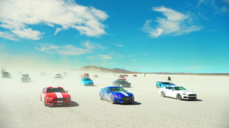 TGT drives through the desert