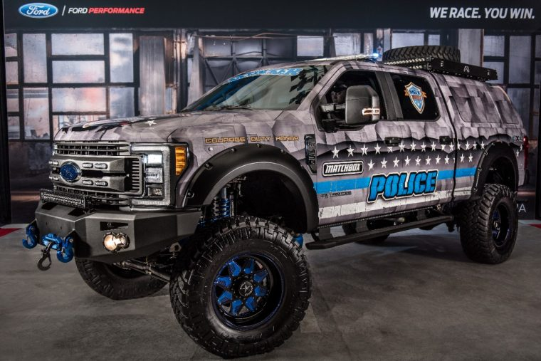 2017 Ford F-350 Super Duty 4x4 XL Crew Cab MBX350 Matchbox Police by Skyjacker Suspensions