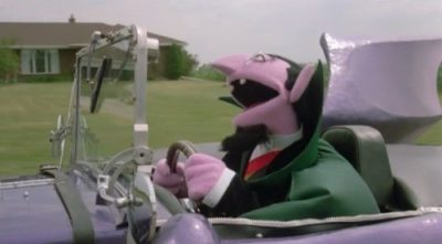 Follow that Bird Sesame Street The Count's Countmobile Car Muppet Driving