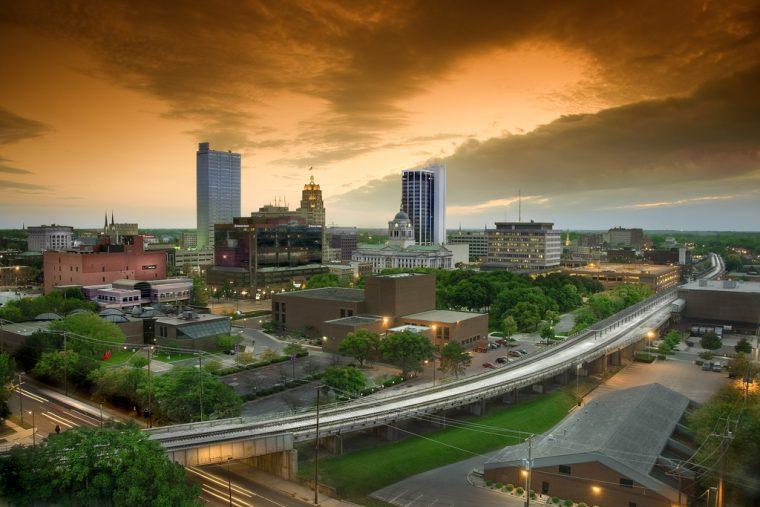 Fort Wayne Indiana highways driving travelling navigating skyline