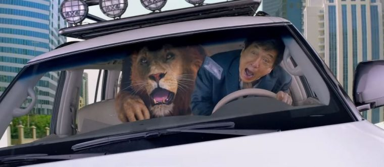 Kung Fu Yoga 2017 Movie Jackie Chan car chase lion