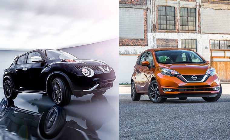 Nissan Juke Pearl and Nissan Versa Note