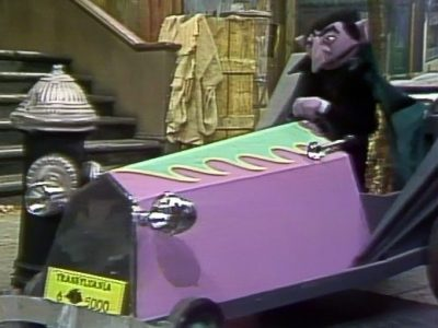Original Sesame Street Countmobile Hot Rod car