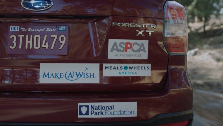 Subaru owners love giving back