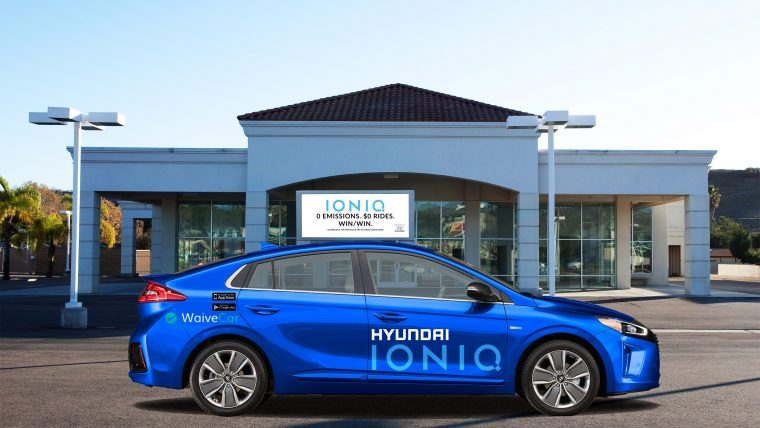 Hyundai teams up with WaiveCar to provide IONIQ electric vehicles for free car-sharing program