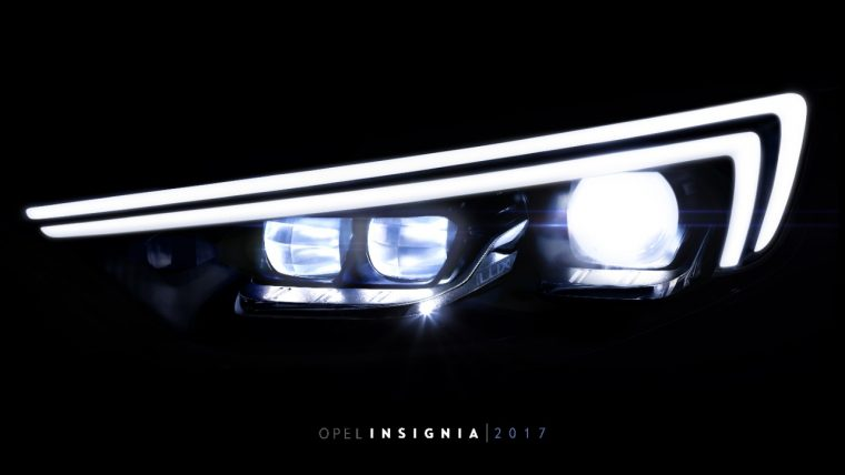 Next-gen IntelliLux LED matrix headlights 2017 Opel Insignia